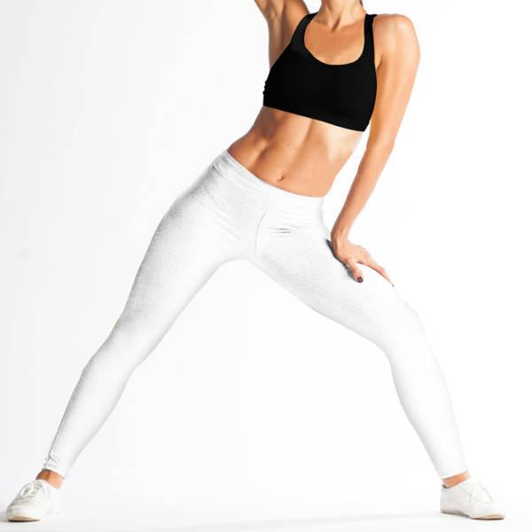 Legging sport femme blanc