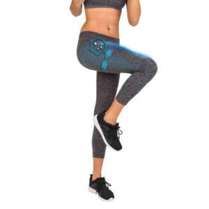 Legging sport femme gris chiné